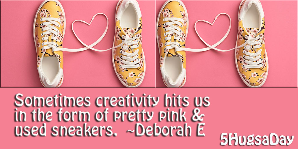 Let the Creativity Hit You in Pretty Pink and Old Sneakers via @5hugsaday | 5HugsADay.com